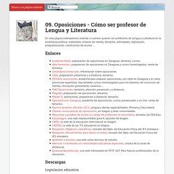 09. Oposiciones - Cómo ser profesor de Lengua yLiteratura · IES Avempace