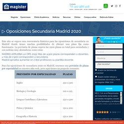 ▷ Oposiciones Secundaria Madrid 2020 - Magister