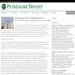 Opovedá právnik - Môj balkón je náš - Petržalské Noviny