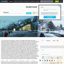 Oppenheim Architecture + Design LLP - Project - Andermatt