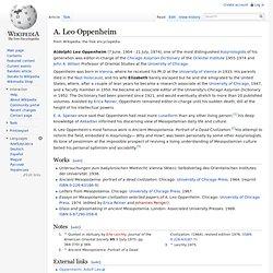 A. Leo Oppenheim