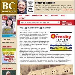 #42 Oppenheim: not Oppenheimer