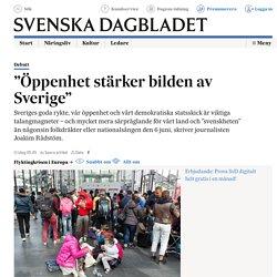 """""""Öppenhet stärker bilden av Sverige"""""""