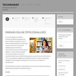 Parimad online õppevõimalused
