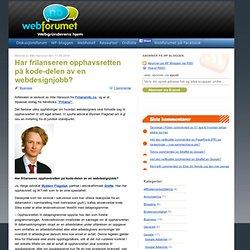 Har frilanseren opphavsretten på kode-delen av en webdesignjobb? | Webforumet.no Blogg