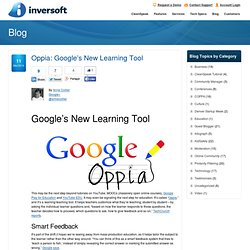 Oppia: Google's New Learning Tool