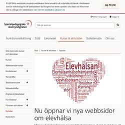 Nu öppnar vi nya webbsidor om elevhälsa