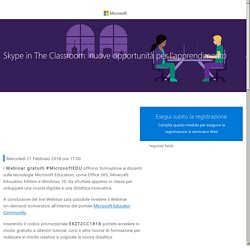 Skype in The Classroom: nuove opportunità per l'apprendimento