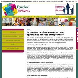 Infos de la franchise sur Franchise Enfants - Le manque de place en crèche : une opportunité pour les entrepreneurs