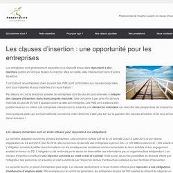 Les clauses d'insertion : une opportunité pour les entreprises - ResponsActe