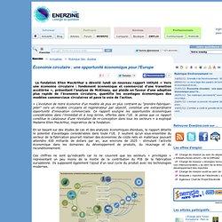 Économie circulaire : une opportunité économique pour l'Europe > Environnement