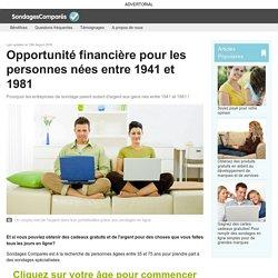 Opportunité financière pour les personnes nées entre 1941 et 1981