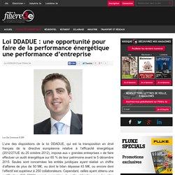 Loi DDADUE : une opportunité pour faire de la performance énergétique une performance d'entreprise
