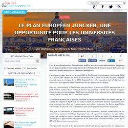 Le plan européen Juncker, une opportunité pour les universités françaises