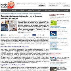 Opportunités issues du Grenelle: les artisans du bâtiment déchantent : 25-10