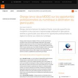 lance deux MOOC sur les opportunités professionnelles du numérique à destination du grand public
