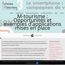 M-tourisme en France : les opportunités et utilisations