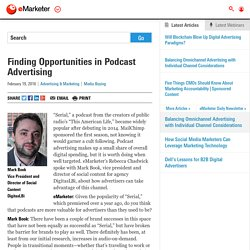Finding Opportunities in Podcast Advertising