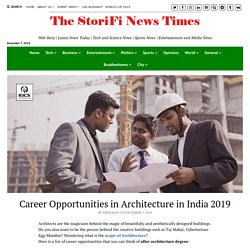 Career Opportunities in Architecture in India 2019