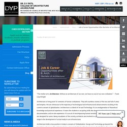 Job & Career Opportunities After Bachelor of Architecture