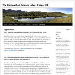 The Carbonshed Science Lab at Chapel Hill