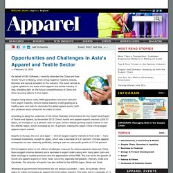 Opportunities and Challenges in Asia's Apparel and Textile Sector