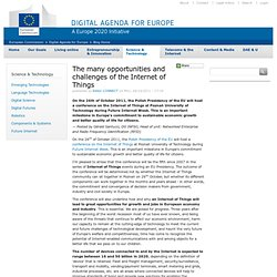 The many opportunities and challenges of the Internet of Things « Digital Agenda for Europe Blog