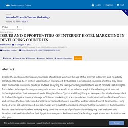 Issues and opportunities of internet hotel marketing in developing countries: Journal of Travel & Tourism Marketing: Vol 26, No 3