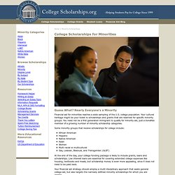 Minority Scholarship Opportunities for Various Disadvantaged Students