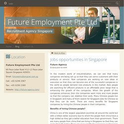 Jobs opportunities in Singapore