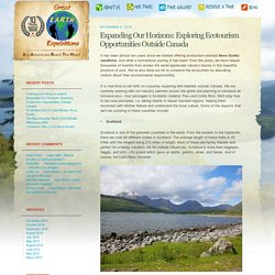 Expanding Our Horizons: Exploring Ecotourism Opportunities Outside Canada