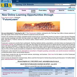 "New Online Learning Opportunities through ""FutureLearn"""