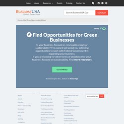 Find Green Opportunities