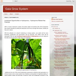 Gaia Grow System: Investment Opportunities in Hydroponics – Hydroponics Market Has Potential