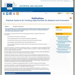 Publications - Practical Guide to EU Funding Opportunities for Research and Innovation