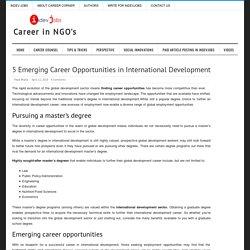 Career Opportunities in International Development