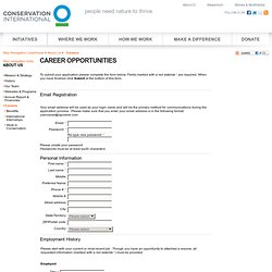 Career Opportunities - Conservation International