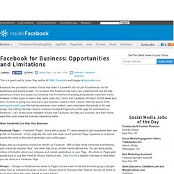 Facebook for Business: Opportunities and Limitations