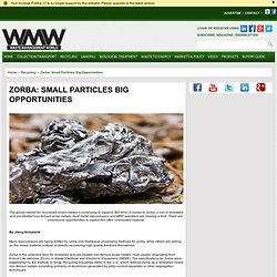 Zorba: Small Particles Big Opportunities