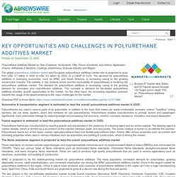 Key Opportunities and Challenges in Polyurethane Additives Market