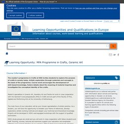 Learning Opportunities and Qualifications in Europe