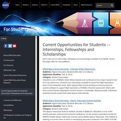Internships, Fellowships and Scholarships