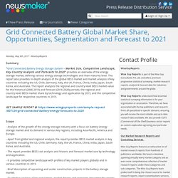 Grid Connected Battery Global Market Share, Opportunities, Segmentation and Forecast to 2021