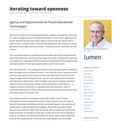 Agency and Opportunities for Future Educational Technologies
