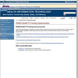 AHRQ National Resource Center; Health Information Technology: Best Practices Transforming Quality, Safety, and Efficiency