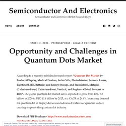 Opportunity and Challenges in Quantum Dots Market