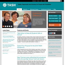 TASH | Equity, Opportunity and Inclusion for People with Disabilities