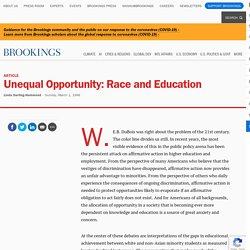 Unequal Opportunity: Race and Education