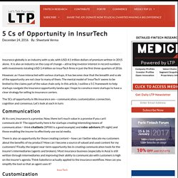 5 Cs of Opportunity in InsurTech
