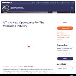 IoT – A New Opportunity for the Messaging Industry